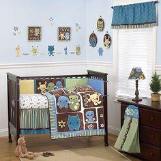CoCaLo Baby Peek A Boo Monsters 8-pc. Crib Bedding Set