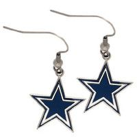 Dallas Cowboys Large Silver Dangle Womens Earrings - 5711131