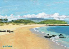 Tropical Palm trees ocean Kuau beach Maui island Hawaii on Etsy, $75.00