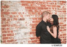 red apple tree photography: Greenville SC engagement with Amy + Alan