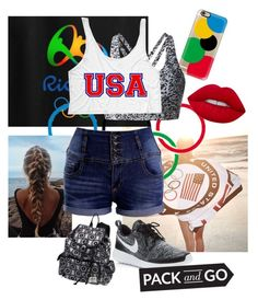 """Trip to Rio"" by styleim ❤ liked on Polyvore featuring Ralph Lauren, Casetify, Lime Crime, NIKE, Olympics and rio"
