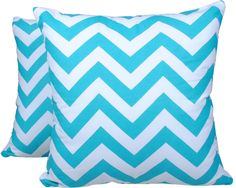 Amazon.com - 2 Piece Set Trendsetter Homez Throw Pillow Cover Cushion Case Made of Pure Cotton Size 18 By 18 Inches Chevron Design By Trendsetter Homez Cushion Cover Pillow Case Collection -