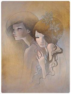 taken Oil and graphite on wood 19x26 'Mayoi Michi' @ Copro Nason Gallery 2008 (jg) © Audrey Kawasaki 2004 - 2013