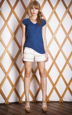 #THEODELLS #spring14 #summer #style #fashion #blue #stripes #shorts