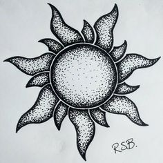 Easy pen and ink drawings of flowers stippling drawing ideas Dotted Drawings, Pencil Art Drawings, Doodle Drawings, Art Drawings Sketches, Doodle Art, Easy Drawings, Stippling Drawing, Stippling Tattoo, Aesthetic Drawing