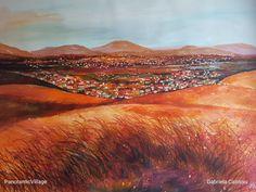 """Panoramic Village cm Watercolor by Gabriela Calinoiu Watercolors, Wordpress, Urban, Mountains, Artist, Nature, Travel, Water Colors, Naturaleza"
