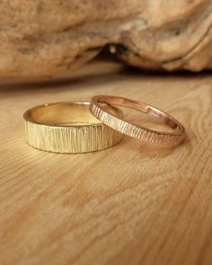 His and Her Wedding Bands Custom for Nigel by kateszabone on Etsy, $840.00