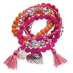 Cat Hammill Friendship Bracelet Set - Pink
