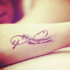 A feather always makes a great tattoo and this is a brilliant use for one!
