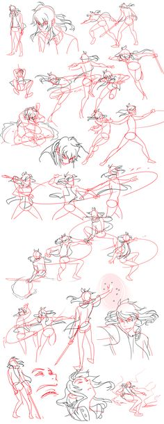 Fight Sketches by Flipfloppery.deviantart.com on @deviantART