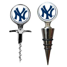 MLB Corkscrew & Wine Bottle Topper Set  by Great American Products