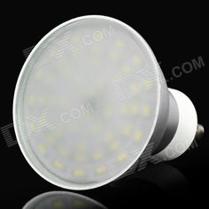 Material: Aluminum + PC; Color: Silver + white; Quantity: 1; Emitter Type: LED; Total Emitters: 48; Power: 4 W; Color BIN: Warm white; Rate Voltage: 220 V; Luminous Flux: 400~450 lm; Color Temperature: 3000~3200 K; Connector Type: GU10; Application: Great for indoor or outdoor use; Features: Beam angle: 120 degrees; Packing List: 1 x LED spot light; http://j.mp/1obbHwq