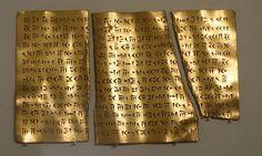 Foundation gold plaque B inscribed in Old Persian, Iran, Achaemenid period, early 4th century BC. Cincinnati Art Museum