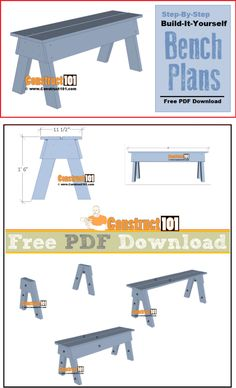Simple DIY Bench | Free PDF Download | Material List
