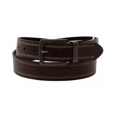 Dickies Men's  Reversible Brown to Black Bridle Head Belt  #Dickies