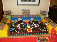monster jam birthday party | Found on superstinkyboys.blogspot.com
