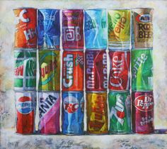 Repetition and variation: Gordon Smedt - Pop Art, 2010, oil on canvas (Modern / Contemporary take on Pop art)