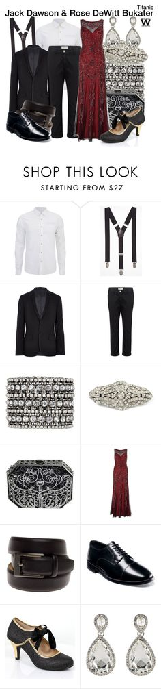 """""""Titanic"""" by wearwhatyouwatch ❤ liked on Polyvore featuring Scotch & Soda, Express, Current/Elliott, Accessorize, Judith Leiber, Ariella, Geoffrey Beene, Nunn Bush, Kenneth Jay Lane and wearwhatyouwatch"""