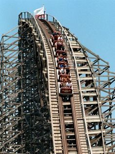 The Rattler rollercoaster at Six Flags Fiesta Texas in 1998. The Rattler's steepest drop when it opened in 1992 was 166 feet. It is currently 122 feet. EXPRESS-NEWS FILE PHOTO Photo: Express-News / SA