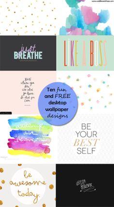 fun and free desktop wallpaper designs
