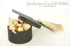 Graduation Cap Gift or Favor Box | Isn't this just the cutest idea for a grad!?  So simple to make and would make any gift cute!  You've got to pin this for later! | #graduation #grad #gifts #gradgifts #graduationgifts #crafts