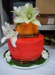 Tropical Wedding Cake ... For a Wedding Cake Guide ... https://itunes.apple.com/us/app/the-gold-wedding-planner/id498112599?ls=1=8  ... The Gold Wedding Planner iPhone App.