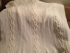 Ravelry: Project Gallery for Horseshoe Cable Afghan pattern by Lorraine White