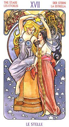 art nouveau tarot deck | It included the Lo Scarabeo Art Nouveau tarot deck;