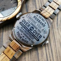 Engraved Wooden Watch To My Husband Creative Birthday Ideas, Birthday Ideas For Her, Creative Gifts, Perfect Gift For Boyfriend, Christmas Gifts For Boyfriend, Boyfriend Gifts, Gifts For Fiance, Great Gifts For Men, Gifts For Him