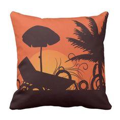 Sunset on the Beach Outdoor Pillow Outdoor Throw Pillows, Decorative Throw Pillows, Sunset, Beach, Accent Pillows, The Beach, Beaches, Sunsets, Decor Pillows