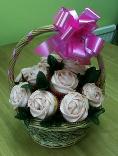 cupcake bakery  | Cupcake Baskets & Bouquets - Cherry Blossom Bakery