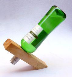 suporte mágico porta vinho adega de mesa para uma garrafa