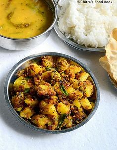 South Indian style Potato Curry Recipe for Rice