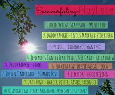 Summerfeeling Playlist 2013