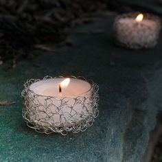 Wire Crochet Tealight Holder
