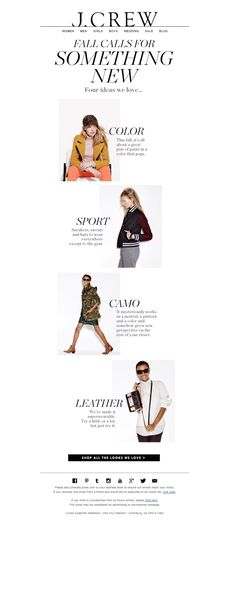 another #jcrew #email #layout #inspiration