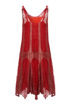 View this item and discover similar evening dresses and gowns for sale at - Sensational little flapper dress in red and metallic silver lame lace with a matching red slip underneath. This lovely piece is ever so delicate and typical Red Flapper Dress, Flapper Style Dresses, 1920s Dress, Gatsby Dress, 1920s Flapper, 1920s Fashion Dresses, Vintage Outfits, Vintage Gowns, Vintage Mode