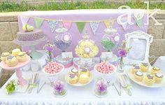 Vintage Pastel Baby Shower Dessert Buffet I love this!!