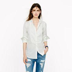Thomas Mason® for J.Crew mandarin-collar tuxedo shirt