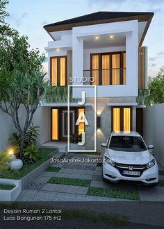 Best Two Storey House Plans Idea Two Storey House Plans, One Storey House, 2 Storey House Design, Duplex House Design, Small House Design, Dream Home Design, Modern House Design, Small Modern House Plans, 3d House Plans