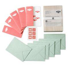 土佐和紙 梅・グリーティングカード 6点セット 桐箱入り 1890yen 和の伝統とモダンなデザインが融合したカードセット