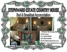 See photos, tips, similar places specials, and more at Stephward Estate Country House Bed And Breakfast, Four Square, South Africa, Orchids, Wedding Venues, Coast, Country, Home Decor, Wedding Reception Venues