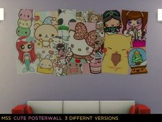 Simsworkshop: Cute Posterwall by midnightskysims • Sims 4 Downloads