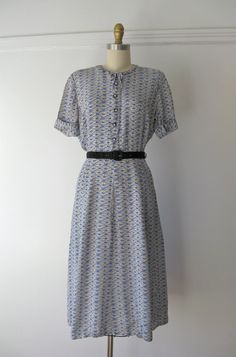vintage 1940s rayon dress by Dronning on Etsy, $110.00