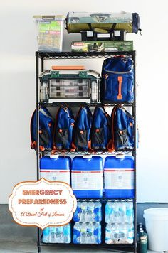 Create 72 hour emergency kits over an 8 week period. Instructions on what to do each week.
