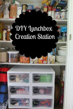 DIY Lunchbox Creation Station. Cool idea for school age kids.