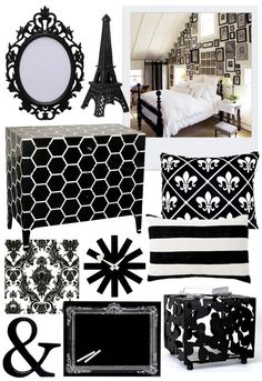 """Decoration for the room during scenes when Leonard is """"in the past."""" Following the black and white theme from the movie."""
