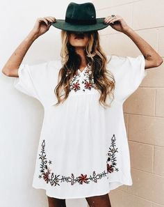 Boho Style - it's always the hat...the hat! Try it..