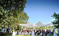 Our selection of the 20 Best Garden & Outdoor Wedding Venues in Cape Town includes photo opportunities, guest capacity and lots of pretty pics from real brides! Wedding Cape, Wedding Bells, Amazing Gardens, Beautiful Gardens, South African Weddings, Canopy Outdoor, Outdoor Wedding Venues, Wedding Trends, Wedding Ideas