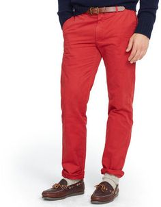 Red Chinos by Polo Ralph Lauren. Buy for $125 from Ralph Lauren